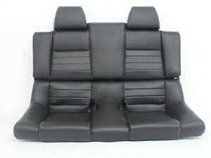 Ford Mustang Convertible Black Leather Rear Seat 2010 2011 2012 2013 2014