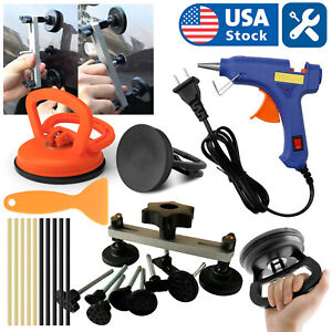 Car Body Dent Repair Tools Suction Cup Puller Pull Panel Ding Remover Sucker Kit