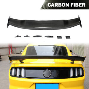 Rear Trunk Spoiler Lid Wing Carbon Fiber Fit For Ford Mustang 2015 2020 Refit