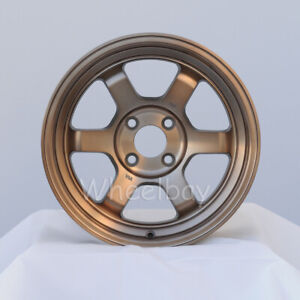 4 Pcs Rota Wheel Grid V 15x7 4x100 20 Full Royal Sport Bronze
