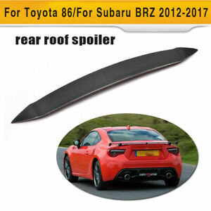 Carbon Fiber Rear Roof Spoiler Top Wing Fit For Toyota 86 Subaru Brz 2012 2017