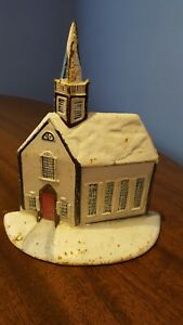 Vintage Metal Cast Iron Dooor Stop Church Building