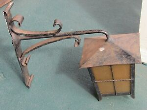 Antique Vintage Revival Wrought Iron Porch Light Sconce