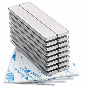 Strong Neodymium Bar Magnets With Double sided Adhesive Rare Earth 16