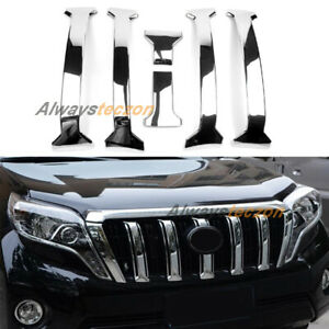 For Toyota Land Cruiser Prado 2014 2020 Front Center Grill Grille Cover Trim