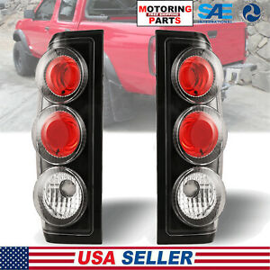 For 1998 2004 Nissan Frontier Tail Light Set Rear Lamp Black Clear Pair Lh Rh