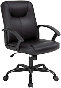 Office Chair Desk Chair Computer Chair With Lumbar Support Pu Leather Executive