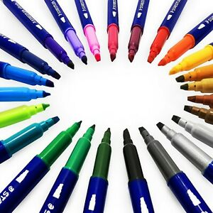Staedtler Double Ended Calligraphy Pens 2 00 3 5mm 24 Assorted Colours
