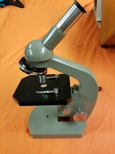 Vintage Olympus Elgeet Optical Microscope With Wooden H 8 Case Box
