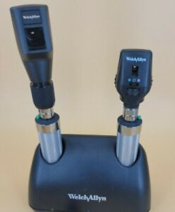 Welch Allyn Ophthalmoscope Streak Retinoscope 2 Handles Charger