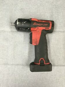 Snap on 14 4v 3 8 Cordless Impact Wrench mn Ct761a Wt 1 Battery Pre owned