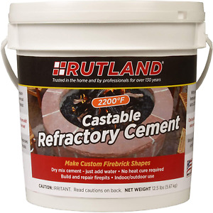 Castable Refractory Cement 12 5 Lbs Mix With Water Fire Clay 2200 Degree