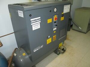 Atlas Copco Gx7 Ff Air Compressor 10hp 2014 Refrigerated Dryer