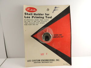Vintage Lee Shell Holder for Lee Priming Tool Size F old style screw in type $20.00