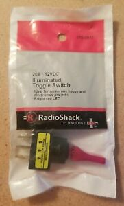 Radioshack Spst Illuminated Red Toggle Switch 275 0010 2750010 free Shipping