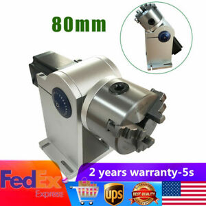 80mm Laser Axis Rotary Chuck Shaft Attachment For Laser Marking Engraver Machine