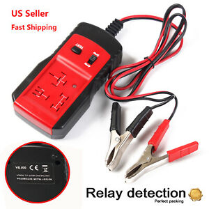 Universal Electronic Automotive Relay Tester For 12v Car Auto Battery Checker Lj