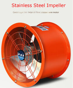 Explosion proof 14 Axial Fan Cylinder Pipe Spray Booth Paint Fumes Exhaust Fan