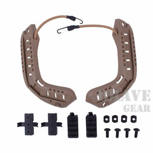 ARC Accessory Rail Mount Adapter NVG Bungees Set for OPS FAST XP High Cut Helmet $25.99
