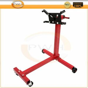 Engine Stand Motor Hoist Dolly Mover Auto Repair Rebuild Jack Red 1000lb