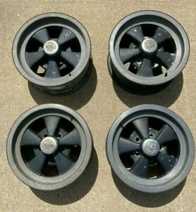 Vintage Set Cragar Gt Wheels 14 X 6 Ford 5 Lug 4 1 2 Bolt Pattern Set W Caps