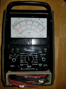 Vtg Simpson 260 series 7 Multimeter Leather Case Manual And Leads