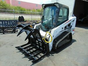 New 48 Root Tooth Grapple Universal Rock Small Skid Steer Attachment
