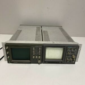 Leader 5860c Waveform Monitor And Tektronix 1720 Vector Scope Tested Working
