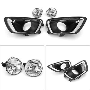New Pair Fog Light Cover Bezel Kit Fits 2015 2020 Chevrolet Colorado Truck U1