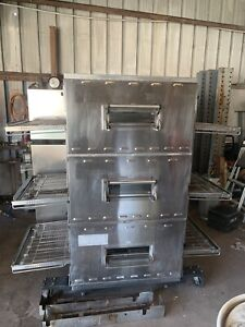 Middleby Marshall Triple Deck Gas Pizza Oven Model Ps840g Working Clean