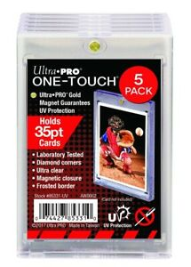 5 Ultra Pro 35pt One Touch Magnetic Acidfree Uv Card Holder Display Case 5 Pack