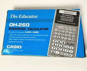 Vintage Casio Oh 260 Overhead Calculator The Educator For Projector New open Box