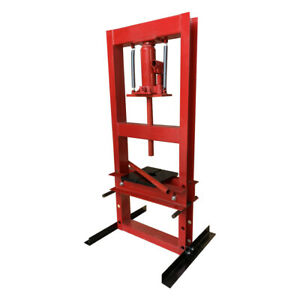 Hydraulic Shop Press Floor Shop Equipment 6 Ton Jack Stand H Frame Red New Usa