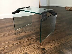 Vintage Glass Waterfall Side Table