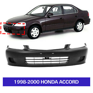 Primed Front Bumper Cover For 1999 2000 Honda Civic 04711s01a01zz Ho1000184