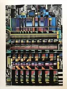 Ian Cross Metro Metrology Night Mixed Multi Media Lithograph Signed Numbered