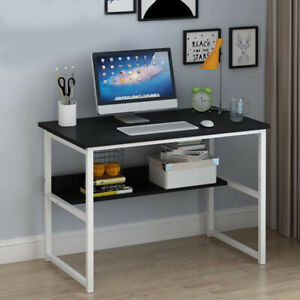 Wood Office Table Computer Desk With Bookshelf Writing Table Home Workstation