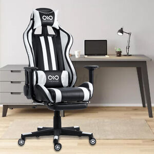 Ergonomic Gaming Office Chair Swivel Computer Desk Seat High Back Recliner Home