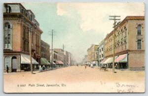 Janesville Wi Buggy Harness Store laundry mansard Roof main St 1906 Rotograph