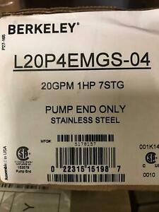 Berkeley L20p4emgs 04 4 Submersible Well Pump End Only Reg 800