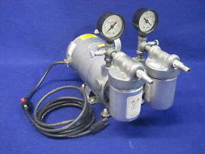Vwr Gast Rotary Vane Vacuum Pump Emerson G180dx 1 4hp 26 In Hg Max Tested