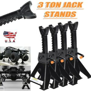 Pack Of 4 Black Jack Heavy Duty Steel 3 Ton Jack Stands With Solid Handles Us