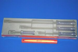 New Snap On Tools 4 Piece Purple Grip Forged Alloy Steel Striking Prybar Set