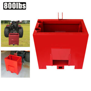 Ballast Box For 3 Point Category 1 Tractor Category 1 Heavy duty Lift 800lbs Red
