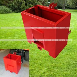 Heavy Duty Lift Ballast Box 3 Points Category 1 Tractors 2 Inch Hitch Attachment