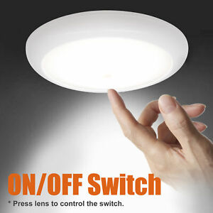 Facon 12v 4 5 Rv Led Interior Ceiling Dome Light With Lens Push On Off Switch