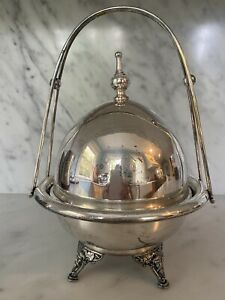 Rogers Smith Silver Co Dome Top Caviar Butter Dish Server With Insert