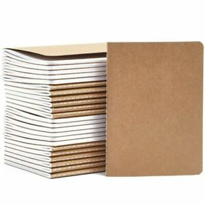 24pack Travel Journal A6 With Kraft Brown Cover Mini Pocket Notebooks 5 7x4 1