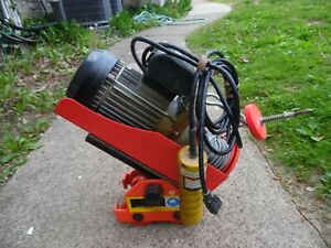 Chicago Electric 02954 Electric Hoist Cable Winch W 1 Ton Push Beam Trolley