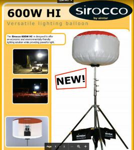 Used Sirocco Balloon 600w Metal Hal 120v Original From Airstar America